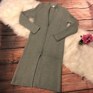 J. Crew Blue/Gray Wool Maxi Coat